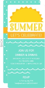 Sunshine Paradise Summer Party Invitation