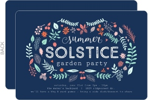 Vintage Foliage Solstice Summer Party Invitation