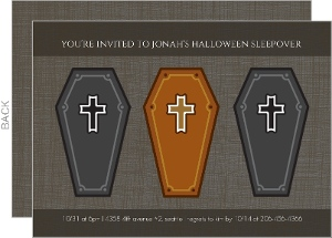 Coffin Sleepover Party Invitation