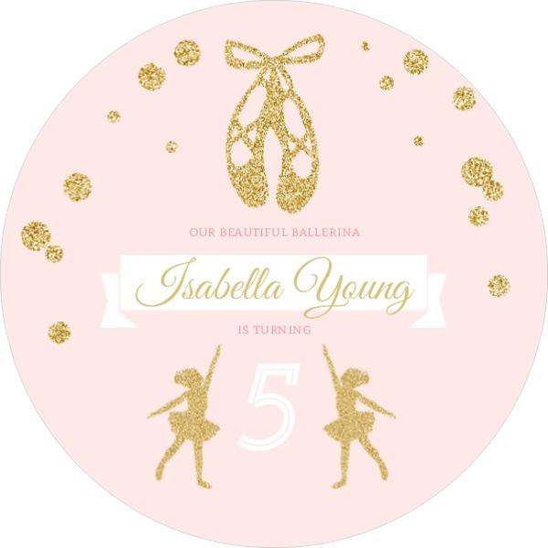 Pink faux gold glitter ballerina birthday invitation kids pink faux gold glitter ballerina birthday invitation filmwisefo