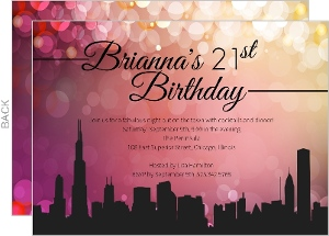 21st Birthday Invitations · Girls in the City Girls Night Invitation
