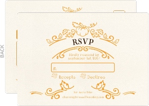 Whimsical Fall Wedding Response Card