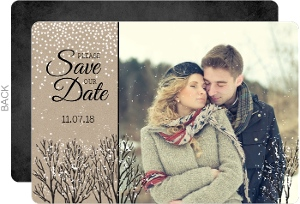 Kraft Snowfall Save The Date Announcement