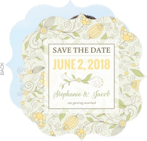 Yellow Summer Floral Save The Date Announcement