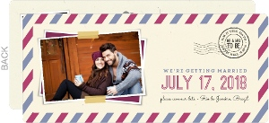 Modern Stripes Postcard Save The Date Announcement