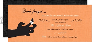 Orange Creepy Hand Halloween Invitation