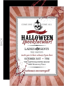 Vintage Steampunk Skull Halloween Party Invitation