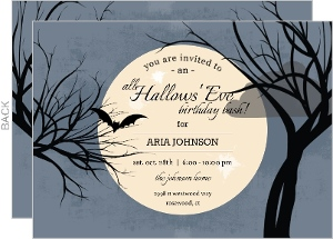 Spooky Night Halloween Birthday Invitation
