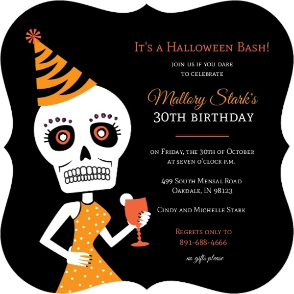 halloween 30th birthday bash invitation 30th birthday invitations