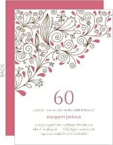 Cheap adult birthday invitations invite shop pink floral 60th birthday party invitation stopboris Images