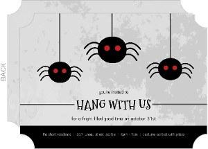 Creepy Spider Halloween Party Invitation