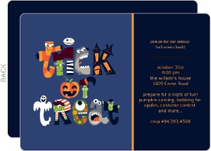 Trick or Treat Monsters Halloween Card