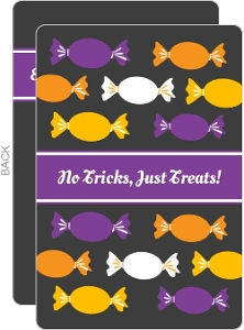 No Tricks Just Treats Halloween Invitation