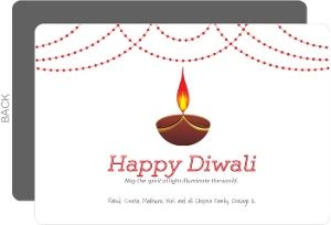 Festive Candle Light Diwali Card