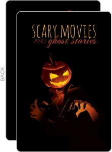 Scary Pumpkin Movie Night Halloween Party Invitation