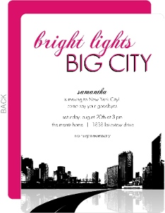 Bright Lights Big City Going Away Party Invitation