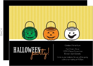 Trick or Treating Pails Halloween Party Invitation