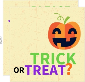 Trick or Treat Pumpkin Halloween Party Invitation