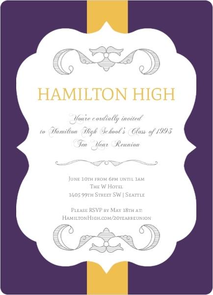 formal class reunion invitation reunion invitations