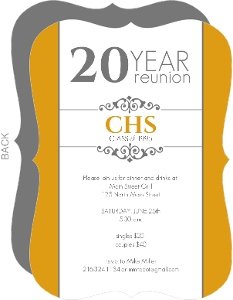 Classic Colors 20 Year Class Reunion Invitation  Class Reunion Invitation Template