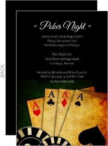 Poker Night in Vegas Casino Party Invitation