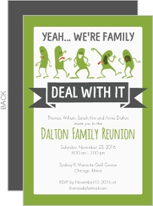 Funny Family Reunion Invitation  Family Reunion Flyer