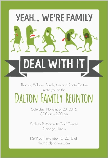 Funny Family Reunion Invitation | Reunion Invitations