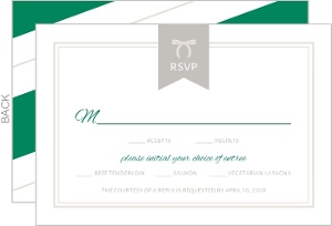 Modern Bold Stripes Wedding Response Card