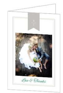 Modern Bold Stripes Wedding Thank You Card