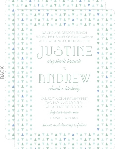 Soft Mint Pattern Wedding Invitation