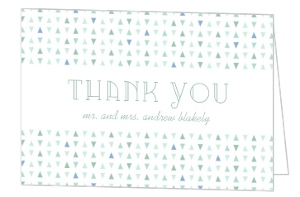 Soft Mint Pattern Wedding Thank You Card