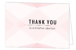 Modern Romance Wedding Thank You Card