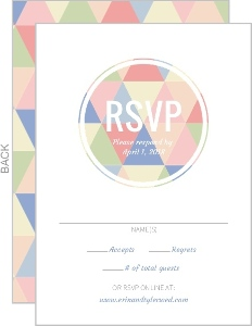 Charming Geometric Wedding Response Card