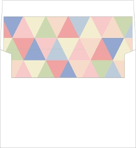 Charming Geometric Envelope Liner
