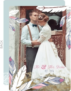 Whimsical Dreams Wedding Thank You Card