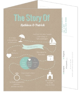 Love Story 5x7 Wedding Invitation