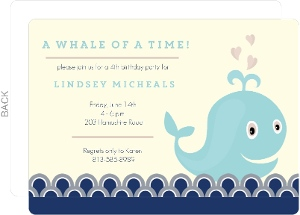 A Whale of a Time Birthday Invitation