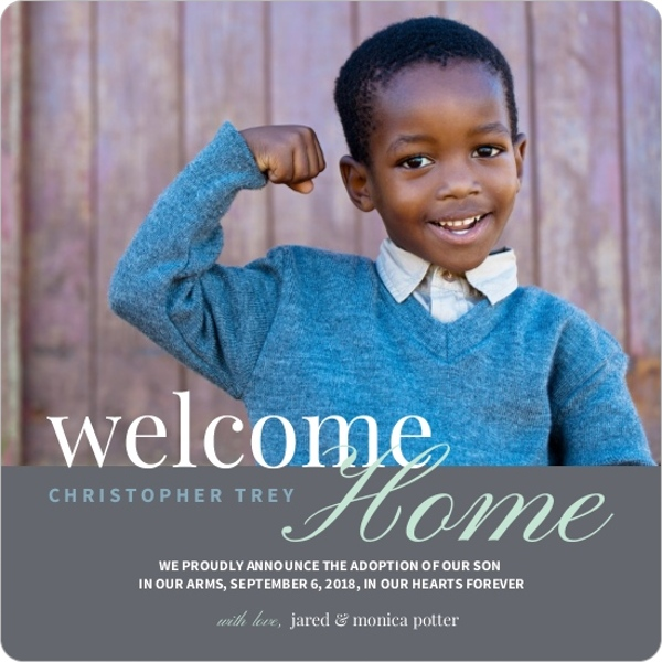 welcome home adoption announcement birth announcements