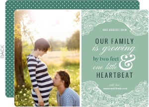 Elegant Lace Frame Pregnancy Announcement