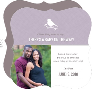 Little Bird Silhouette Pregnancy Announcement