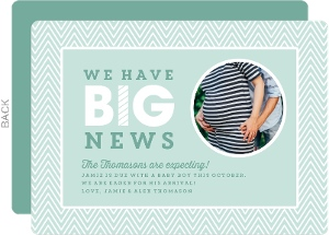 Mint Big News Pregnancy Announcement
