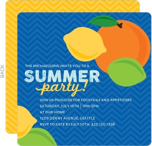 Summer Citrus Party Invitation
