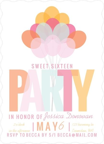 Modern celebration sweet sixteen birthday party invitation sweet modern celebration sweet sixteen birthday party invitation filmwisefo