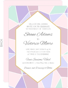 Delicate Triangles Wedding Invitation
