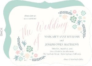 Succulent Bouquet Wedding Invitation