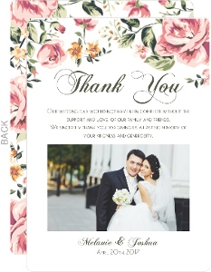 Cheap wedding thank you cards invite shop pink floral wedding thank you card junglespirit Image collections