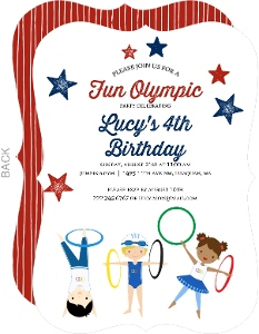 Olympic Kids Birthday Party Invitation