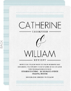 Modern Pale Blue Pattern Wedding Invitation