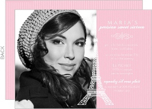 Pink Paris Sweet 16 Birthday Invitation