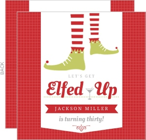 Comical Elf Feet Adult 30th Brithday Invitation